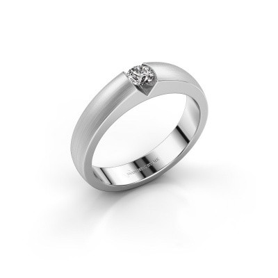 Verlovingsring Theresia 585 witgoud zirkonia 3.4 mm