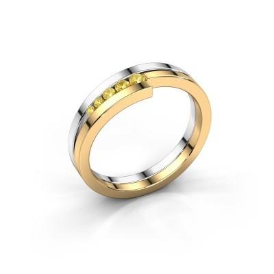 Foto van Ring Cato 585 witgoud gele saffier 2.2 mm