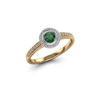 Foto van Verlovingsring Noud 2 RND 585 goud smaragd 4 mm