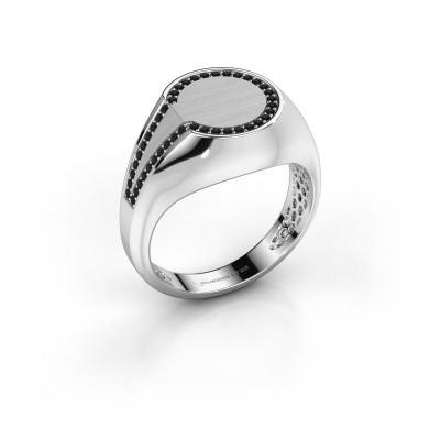 Heren ring Gijs 950 platina zwarte diamant 0.264 crt