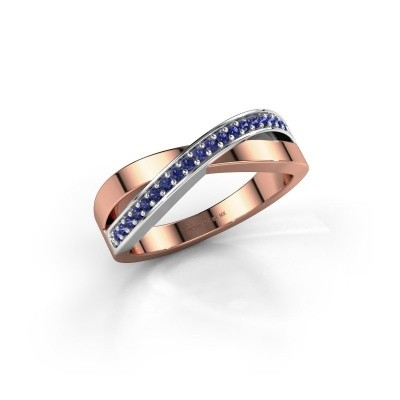 Foto van Ring Kaley 585 rosé goud saffier 1.2 mm
