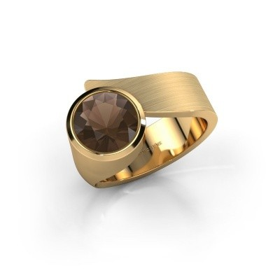 Ring Nakia 585 goud rookkwarts 8 mm