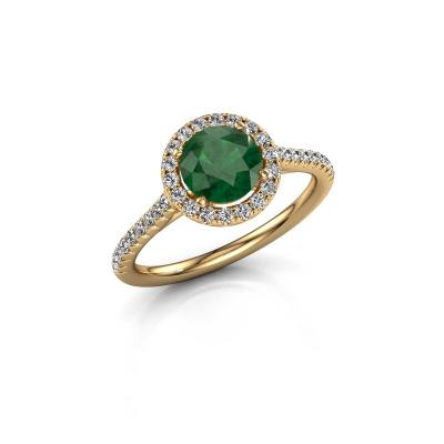 Foto van Verlovingsring Seline rnd 2 375 goud smaragd 6.5 mm
