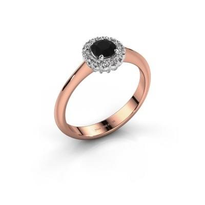 Verlobungsring Anca 585 Roségold Schwarz Diamant 0.36 crt