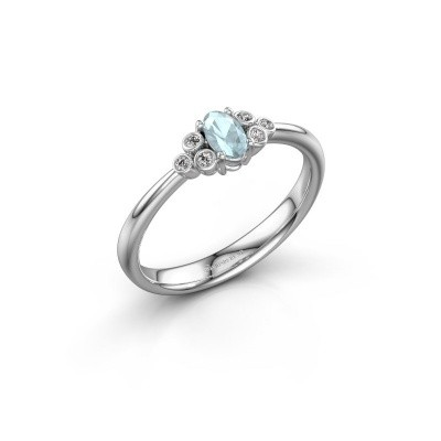 Picture of Engagement ring Lucy 1 925 silver aquamarine 6x4 mm