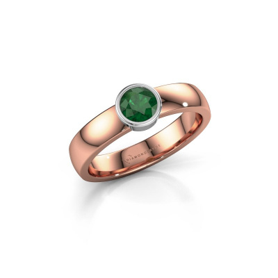 Ring Ise 1 585 rose gold emerald 4.7 mm
