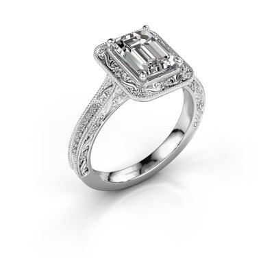 Verlovings ring Alice EME 950 platina lab-grown diamant 1.255 crt
