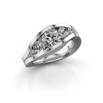 Foto van Ring Sigrid 2 585 witgoud diamant 1.799 crt