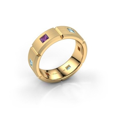 Foto van Heren ring Steve 585 goud amethist 3 mm