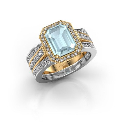 Picture of Ring Dodie 3 585 gold aquamarine 9x7 mm