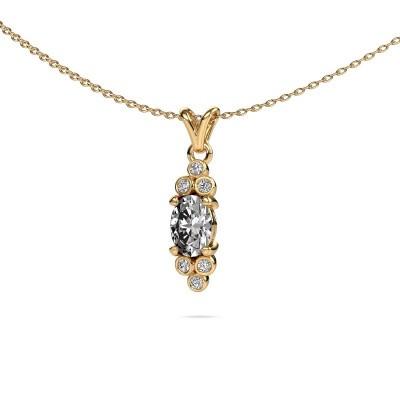 Foto van Hanger Lucy 2 375 goud lab-grown diamant 0.89 crt