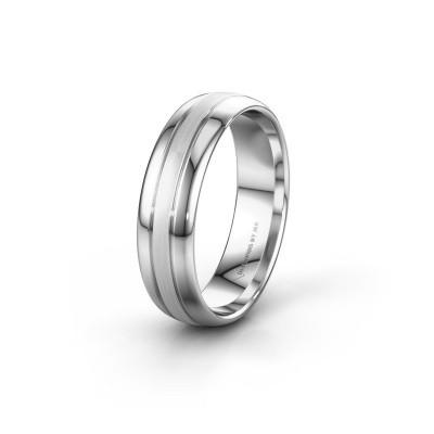 Wedding ring WH0400M36APM 585 white gold ±6x1.7 mm