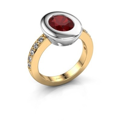 Ring Selene 2 585 gold ruby 9x7 mm