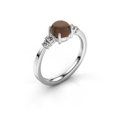 Ring Regine 925 zilver rookkwarts 6 mm