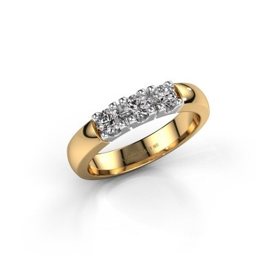 Picture of Engagement ring Rianne 3 585 gold diamond 0.450 crt