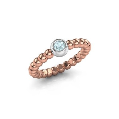 Picture of Stackable ring Dini 585 rose gold aquamarine 3 mm