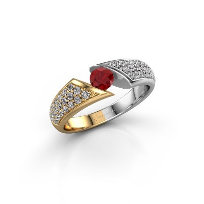 Engagement ring Hojalien 3 585 gold ruby 4.2 mm