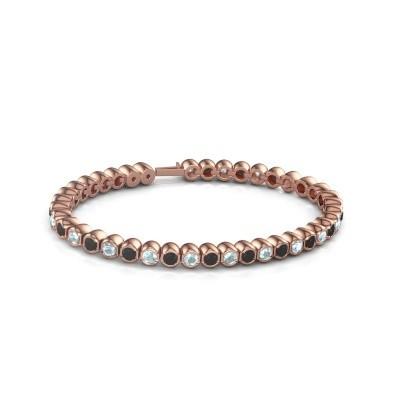 Foto van Tennisarmband Mellisa 375 rosé goud zwarte diamant 7.92 crt