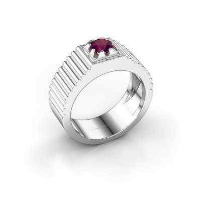 Pink ring Elias 950 platina rhodoliet 5 mm