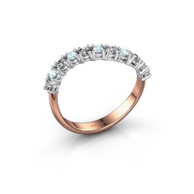 Ring Eliza 585 rosé goud diamant 0.18 crt