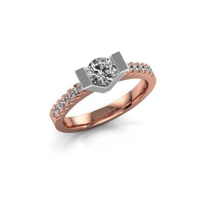 Bague de fiançailles Sherley 2 585 or rose diamant 0.74 crt
