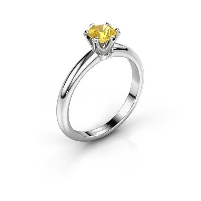 Picture of Engagement ring Tiffy 1 950 platinum yellow sapphire 5 mm