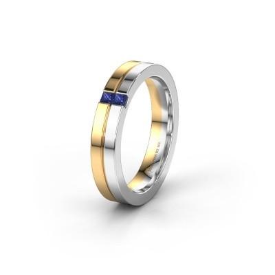 Trouwring WH0225L14B 585 goud saffier ±4x2 mm