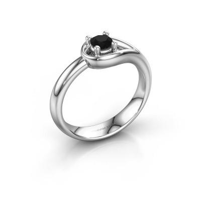 Ring Fabienne 950 platinum black diamond 0.30 crt