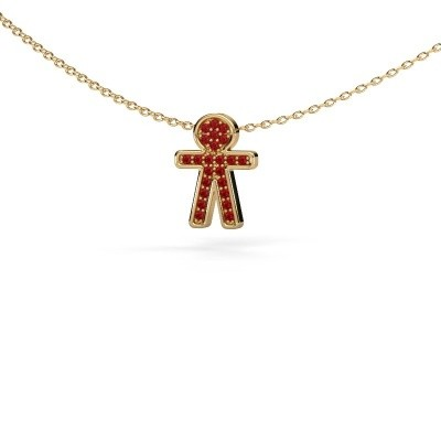 Pendant Boy 375 gold ruby 1 mm