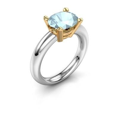 Ring Janiece 585 Weißgold Aquamarin 10x8 mm