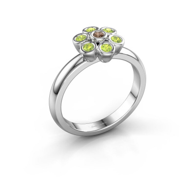 Ring Aaliyah 925 silver brown diamond 0.03 crt
