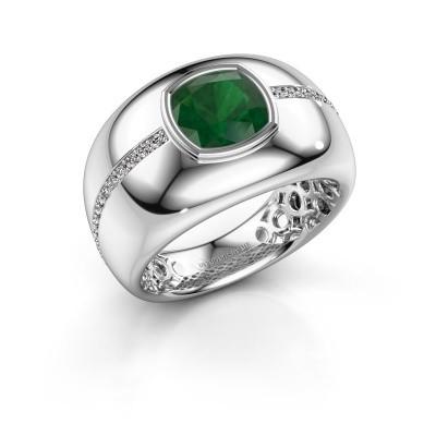 Ring Sydney 950 platina smaragd 7.5 mm