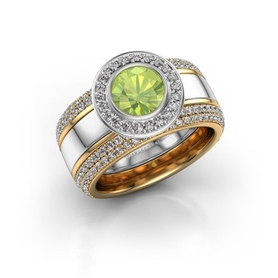 Picture of Ring Roxie 585 white gold peridot 6.5 mm