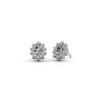 Picture of Earrings Leesa 925 silver zirconia 6x4 mm