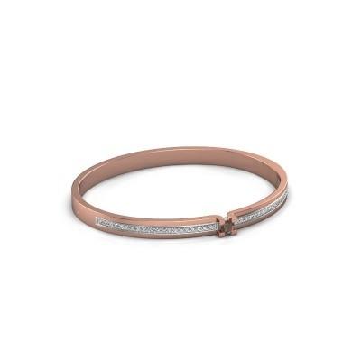 Armband Myrthe 585 rosé goud rookkwarts 4 mm