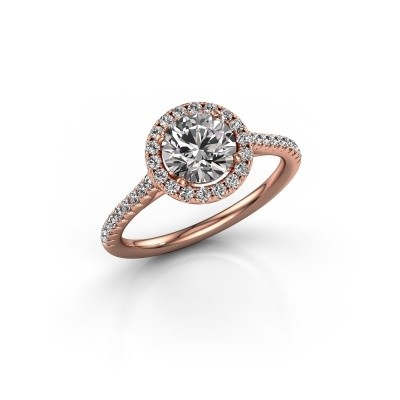 Picture of Engagement ring Seline rnd 2 375 rose gold zirconia 6.5 mm