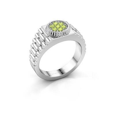 Foto van Rolex stijl ring Nout 585 witgoud peridoot 2 mm