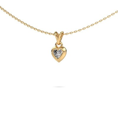 Picture of Pendant Charlotte Heart 585 gold lab grown diamond 0.25 crt