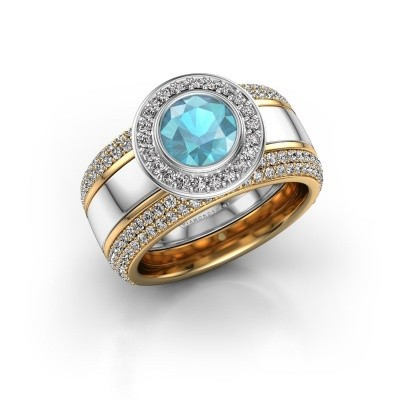 Picture of Ring Roxie 585 white gold blue topaz 6.5 mm
