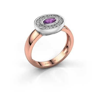 Ring Azra 585 Roségold Amethyst 5x3 mm