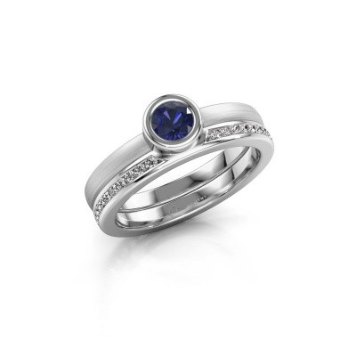 Picture of Ring Cara 950 platinum sapphire 4 mm