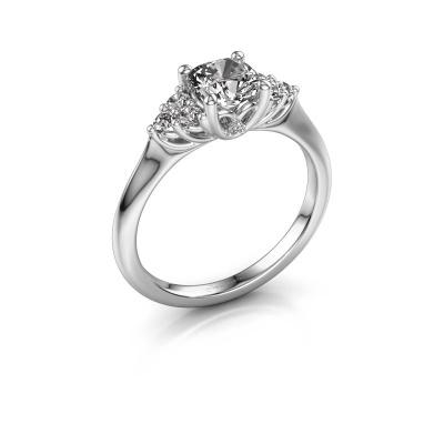 Verlovingsring Felipa CUS 585 witgoud diamant 1.193 crt