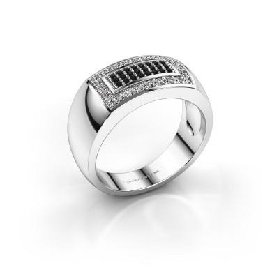 Foto van Mannen ring Lorenzo 585 witgoud zwarte diamant 0.552 crt