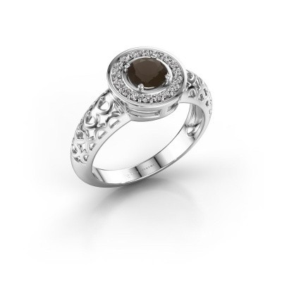 Picture of Ring Katalina 375 white gold smokey quartz 5 mm