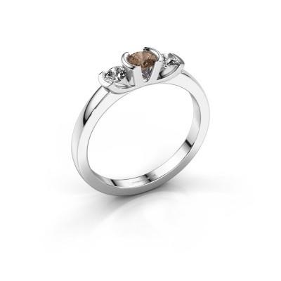 Bague Lucia 925 argent diamant brun 0.40 crt