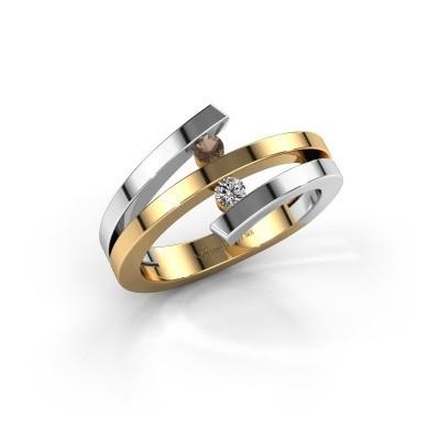 Foto van Ring Synthia 585 goud rookkwarts 2.5 mm