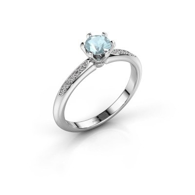 Picture of Engagement ring Tiffy 2 585 white gold aquamarine 4.7 mm