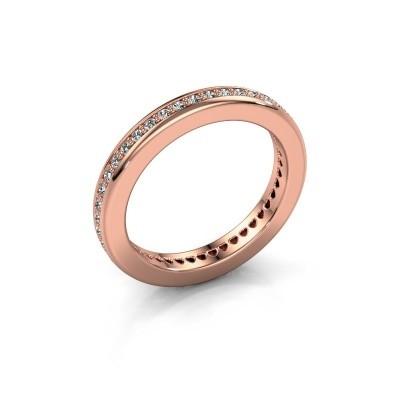 Aanschuifring Elvire 3 375 rosé goud diamant 0.48 crt