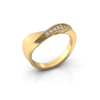 Ring Lynn 585 goud diamant 0.216 crt