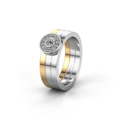 Trouwring WH2102L 585 goud diamant ±6x1.8 mm